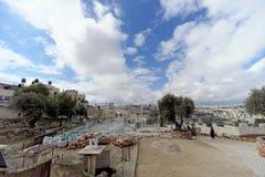 Gerusalemme, Israele - 15 febbraio 2017 Monastero greco dell'ascensione sul monte degli Ulivi immagini stock libere da diritti