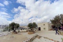 Gerusalemme, Israele - 15 febbraio 2017 Monastero greco dell'ascensione sul monte degli Ulivi immagine stock libera da diritti