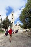 Gerusalemme, Israele - 15 febbraio 2017 Salvatore del convento di ascensione della chiesa ortodossa russa a Gerusalemme E immagini stock libere da diritti