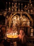 Gerusalemme, Israele - Juli 15, 2016: Golgotha di pietra, il posto di Immagini Stock