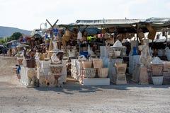 GERUSALEMME, ISRAELE - 10 settembre 2018: Il bazar vicino a Gerusalemme offre a Medio Oriente i prodotti ed i ricordi tradizional fotografia stock