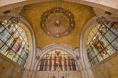 Gerusalemme - la cupola di sancutary in chiesa di flagellazione sopra via Dolorosa da comincia di 20 centesimo dall'architetto An Immagini Stock Libere da Diritti