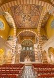 Gerusalemme - navata della chiesa luterana evangelica dell'ascensione sul monte degli Ulivi fotografie stock