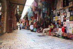 GERUSALEMME - 28 OTTOBRE 2010: Mercato orientale di vecchia offerta di Gerusalemme Fotografia Stock Libera da Diritti