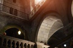 Gerusalemme, pareti di pietra della chiesa della resurrezione Immagini Stock