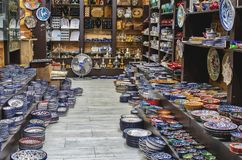 gerusalemme Piccolo negozio nella vecchia città fotografie stock