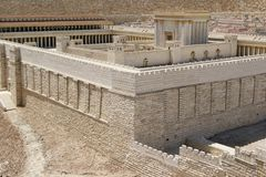 Gerusalemme, secondo tempiale fotografia stock libera da diritti