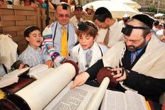 Bar mitzvah - rituale ebreo di raggiungimento della maturità Fotografia Stock