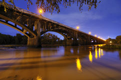 Gervais Street Bridge. In Columbia, South Carolina, USA Stock Photos