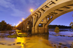 Gervais Street Bridge. In Columbia, South Carolina, USA Stock Image
