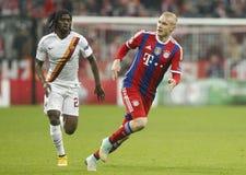 Gervinho and Sebastian Rode Bayern Munich v AS Roma Champion League Royalty Free Stock Images