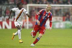 Gervinho and Sebastien Rode Bayern Munich v AS Rome Champion League Stock Image