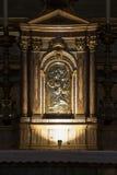 Gesà ¹ e玛丽亚教会、耶稣和玛丽 临时房屋法坛 意大利罗马 库存照片
