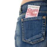 Gesäßtasche-Geld Lizenzfreie Stockfotos