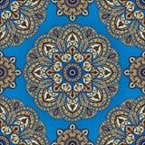 Gesättigtes, orientalisches Muster Stockbild