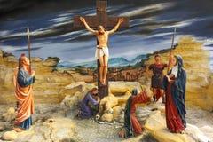 Gesù all'incrocio fotografia stock libera da diritti