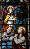Gesù che prega in Gethsemane (vetro macchiato) Immagine Stock