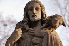 Gesù Cristo - il buon pastore (composizione in arte) Immagine Stock