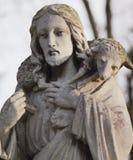 Gesù Cristo - il buon pastore (composizione in arte) Immagini Stock Libere da Diritti