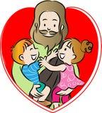 Gesù e bambini Fotografie Stock Libere da Diritti