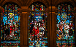 Gesù e Lucifero, Gesù a Cana e battesimo da St John immagine stock