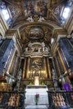 Gesù e Maria Church, Jesus and Mary. Altar. Rome, Italy. Royalty Free Stock Photo
