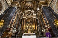 Gesù e Maria Church, Jesus and Mary. Altar. Rome, Italy. Royalty Free Stock Image
