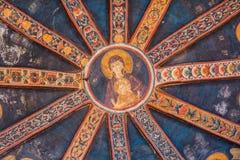 Gesù e Mary Mural nella chiesa di Chora fotografia stock libera da diritti