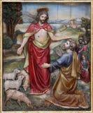 Gesù ha detto a Peter, alimenta le mie pecore Immagini Stock Libere da Diritti
