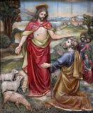 Gesù ha detto a Peter, alimenta le mie pecore Fotografia Stock Libera da Diritti