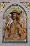 Gesù il buon pastore Fotografie Stock