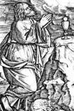 Gesù nel giardino delle olive Immagine Stock
