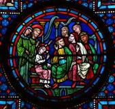 Gesù nel tempio immagini stock