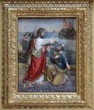 Gesù reintegra Peter alla direzione della chiesa Immagine Stock Libera da Diritti