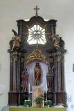 Gesù rilegato, altare in chiesa del san Mary Magdalene in Donja Kupcina, Croazia Fotografia Stock