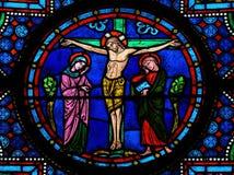 Gesù sull'incrocio Fotografie Stock Libere da Diritti