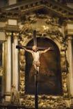 Gesù sull'incrocio Immagini Stock Libere da Diritti