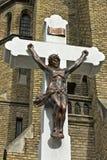 Gesù sull'incrocio Fotografia Stock Libera da Diritti