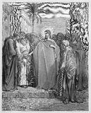 Gesù Cristo ed i soldi di tributo Immagini Stock Libere da Diritti