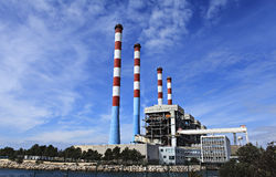 Ges factory and chimney Royalty Free Stock Images
