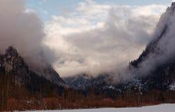 Gesaeuse gór trwająca burza, Austria obrazy royalty free