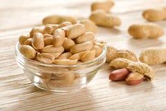 Gesalzene Erdnüsse Lizenzfreie Stockbilder
