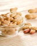 Gesalzene Erdnüsse Lizenzfreie Stockfotos