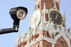 Gesamtüberwachung von speziellen Geheimagenten Augen von Moskau lizenzfreies stockfoto