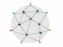 Gesamt-Netzwerk Stockfoto