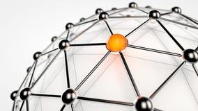 Gesamt-Netzwerk Stockbild