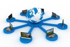 Gesamt-Netzwerk das Internet. Lizenzfreies Stockfoto