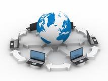 Gesamt-Netzwerk das Internet. Lizenzfreie Stockfotos