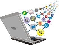 Gesamt-Netzwerk des Internets Lizenzfreies Stockfoto