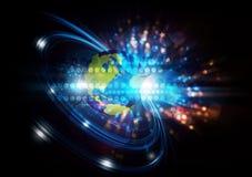 Gesamt-Netzwerk digitaler Hintergrund Stockfoto
